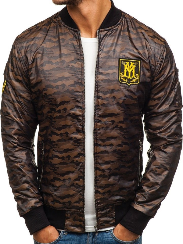 Men's Lightweight Jacket Camo-Brown Bolf 5218
