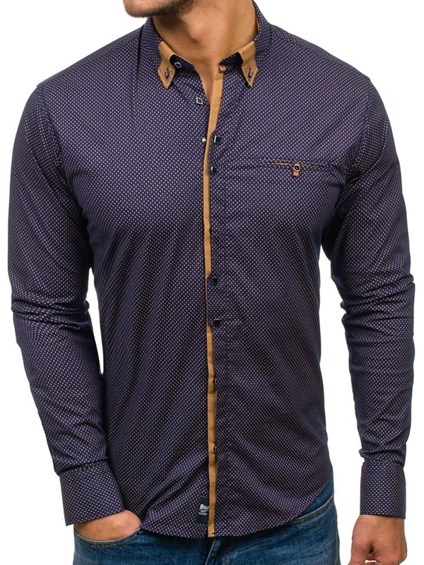 NAVY BLUE-BROWN
