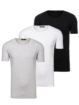 Men's Plain T-shirt Multicolor 3 Pack Bolf 798081-3p