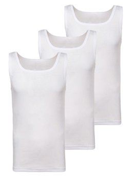 Men's Plain Top White 3 Pack Bolf C10049-3P