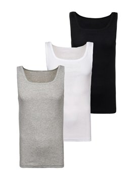 Men's Plain Undershirt Multicolor 3 Pack Bolf C10010-3P
