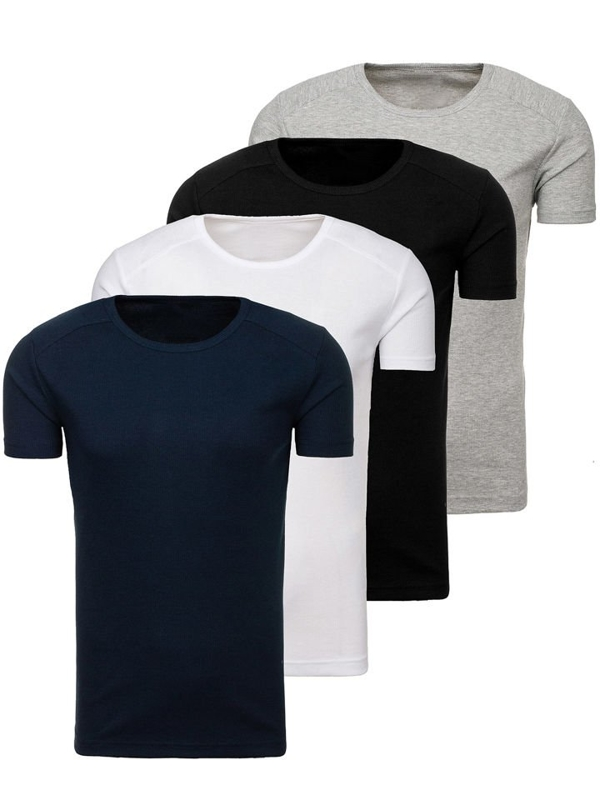 Men's Plain Undershirt Multicolor 4 Pack Bolf C3065-4P