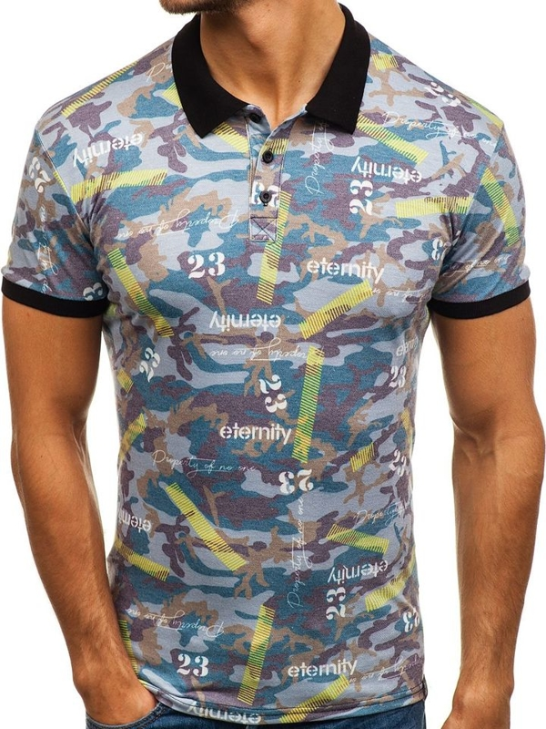 Men's Polo Shirt Multicolour Bolf 5004A