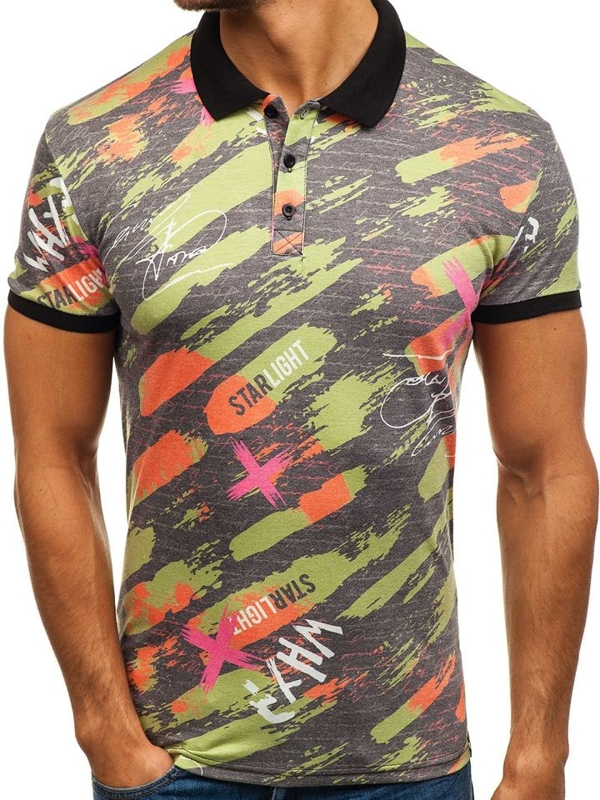 Men's Polo Shirt Multicolour Bolf 5014A