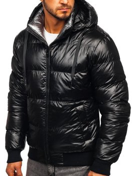 Men's Quilted Winter Jacket Black Bolf 92556
