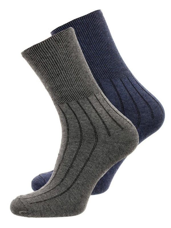 Men's Socks Navy Blue-Grey Bolf X10014-2P 2 PACK