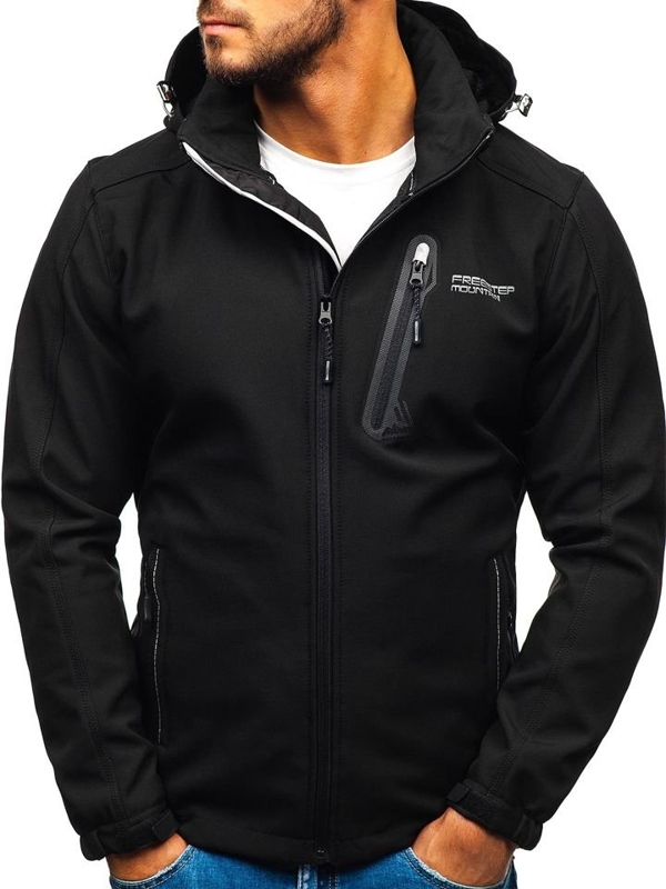 Men's Softshell Jacket Black Bolf AB95