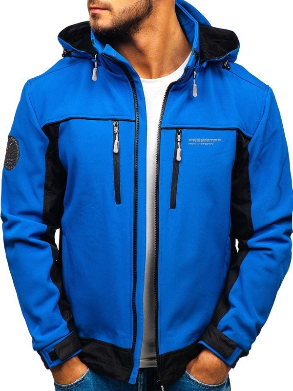 Men's Softshell Jacket Blue Bolf 5527
