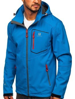 Men's Softshell Jacket Blue Bolf AB152