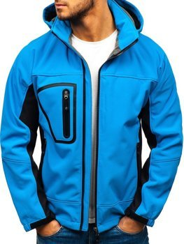 Men's Softshell Jacket Light Blue Bolf T019