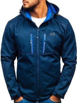 Men's Softshell Jacket Navy Blue Bolf AB008