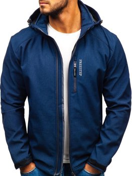 Men's Softshell Jacket Navy Blue Bolf AB151
