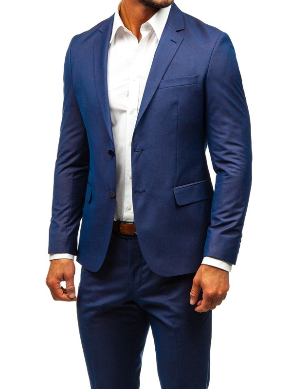 Men's Suit Navy Blue Bolf 19200