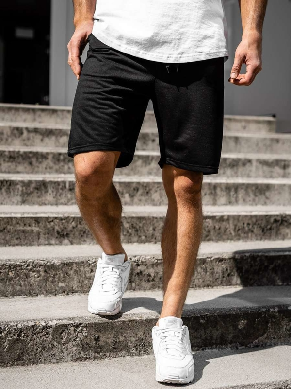 Men's Sweat Shorts Black Bolf DK07