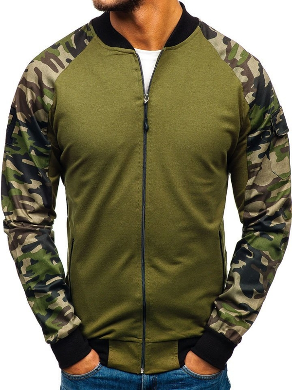 Men's Sweatshirt Camo-Green Bolf 0443