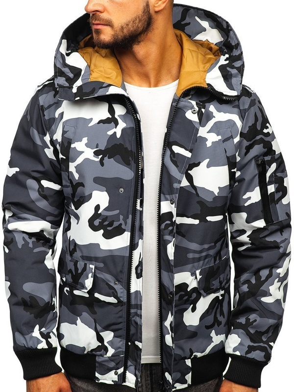 Men's Transitional Jacket Camo-Graphite Bolf 2019005M