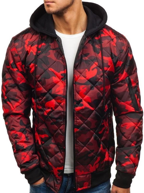 Men's Transitional Jacket Camo-Red Bolf HS15