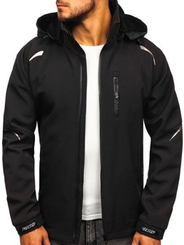Men's Transitional Softshell Jacket Black Bolf P821