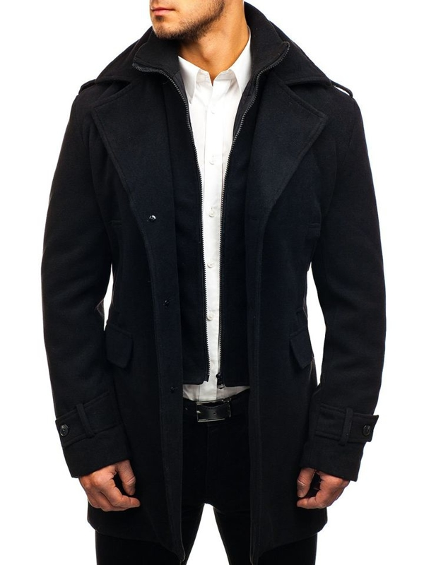 Men's Winter Coat Black Bolf 1808-A