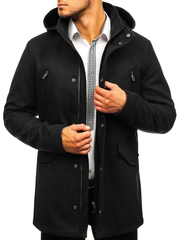 Men's Winter Coat Black Bolf 5439