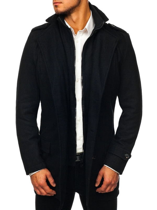 Men's Winter Coat Black Bolf NZ02