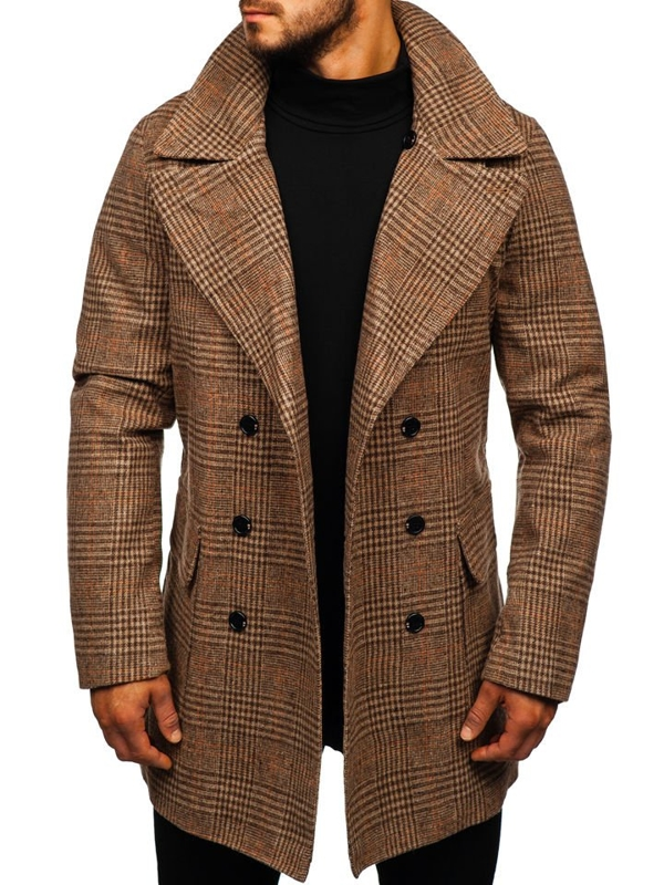 Men's Winter Coat Brown Bolf 1117
