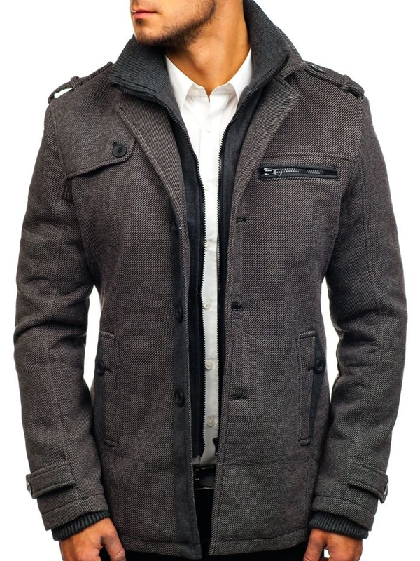 Men's Winter Coat Grey Bolf 1809