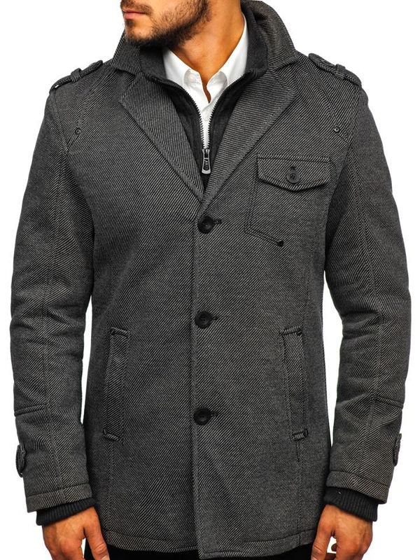 Men's Winter Coat Grey Bolf 88801