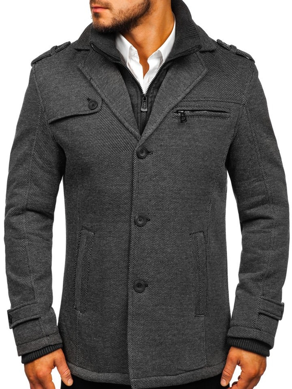 Men's Winter Coat Grey Bolf 88805