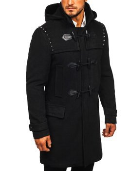 Men's Winter Duffle Coat Black Bolf 88870