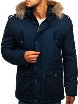 Men's Winter Jacket Navy Blue Bolf 1633