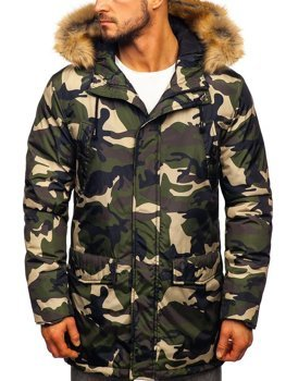 Men's Winter Parka Jacket Camo-Green Bolf 1968