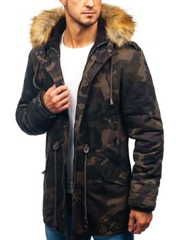 Men's Winter Parka Jacket Camo-Khaki Bolf AM711