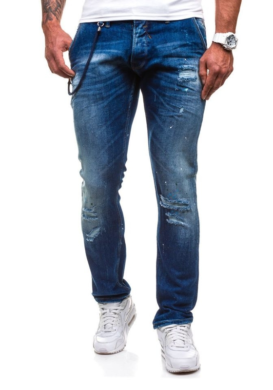 Navy Blue Men's Jeans Bolf 4730 (1000)