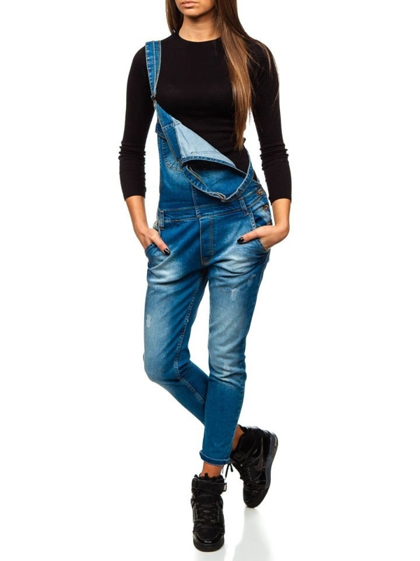 Women's Denim Dungarees Blue Bolf 260