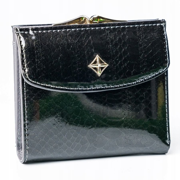 Women's Eco Leather Wallet Black 2866