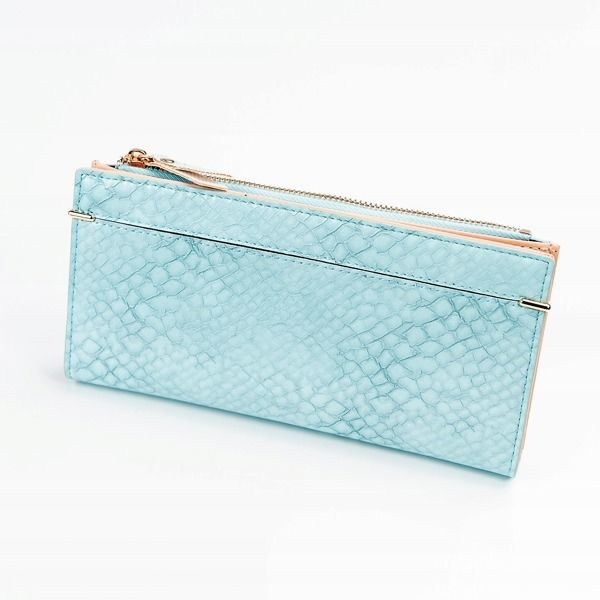 Women's Eco Leather Wallet Blue 1050