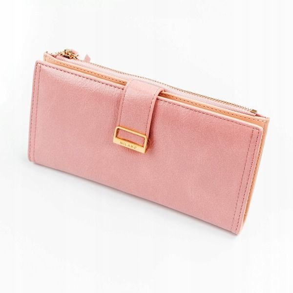 Women's Eco Leather Wallet Pink 1037