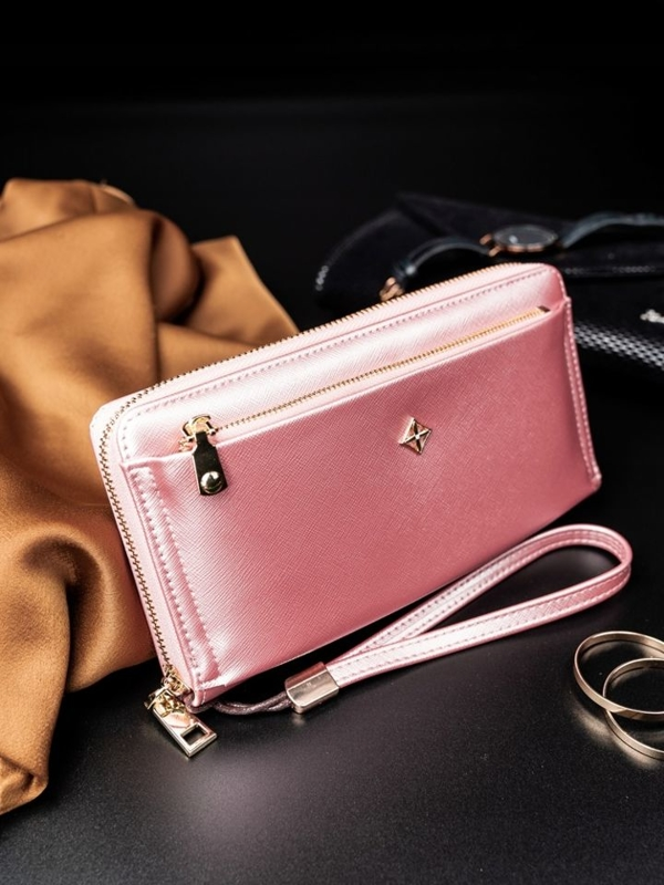 Women's Eco Leather Wallet Pink 1810