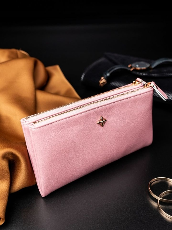 Women's Eco Leather Wallet Pink 1820