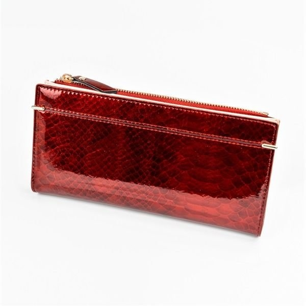 Women's Eco Leather Wallet Red 1049