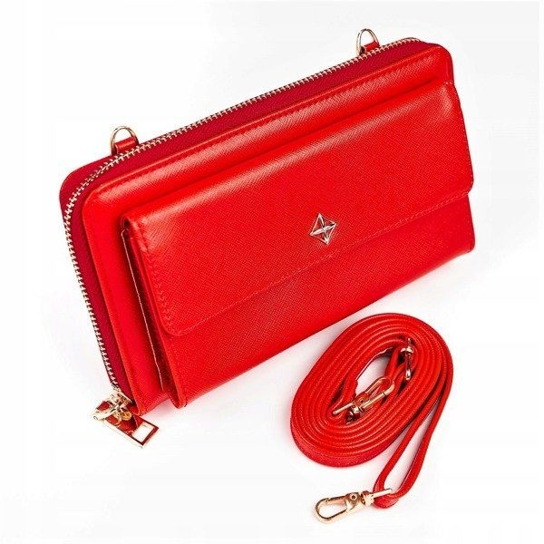 Women's Eco Leather Wallet Red 1117