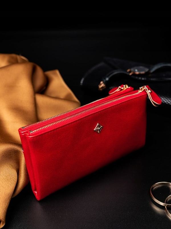 Women's Eco Leather Wallet Red 1826