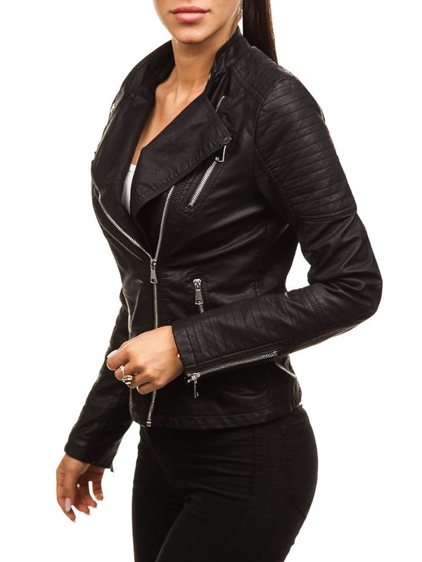 Women's Leather Jacket Black Bolf 88008