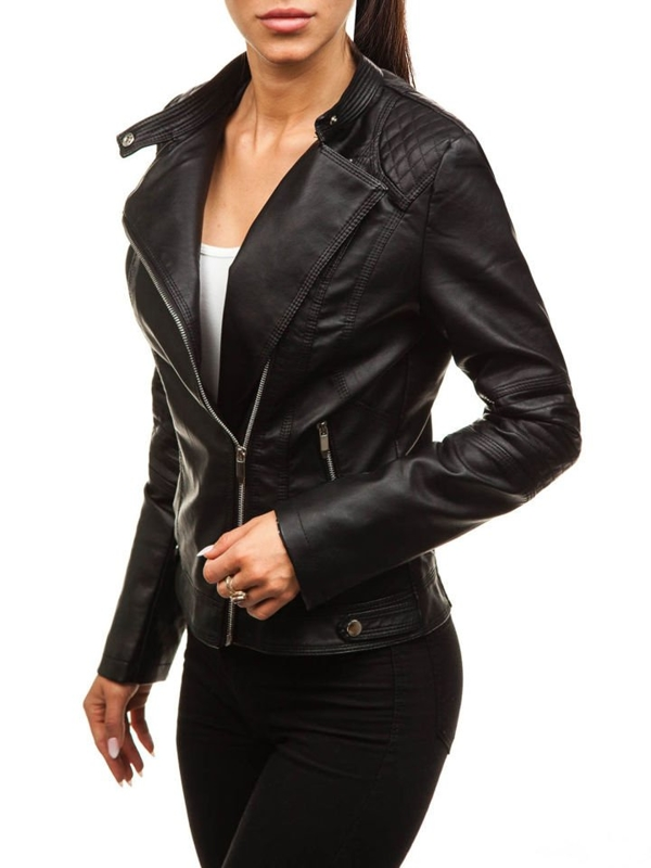 Women's Leather Jacket Black Bolf 8857