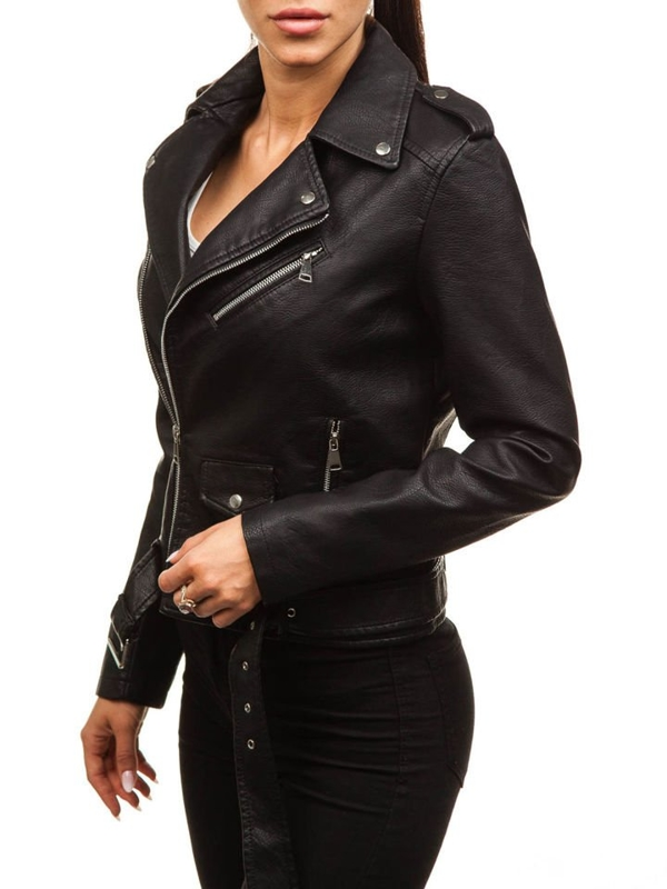 Women's Leather Jacket Black Bolf 88758