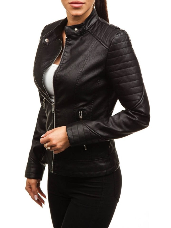 Women's Leather Jacket Black Bolf 88788