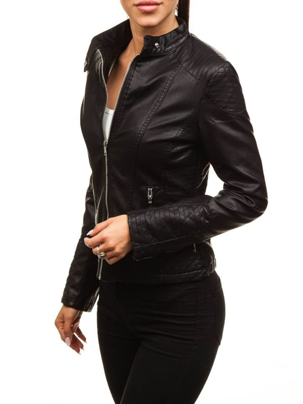 Women's Leather Jacket Black Bolf 8892