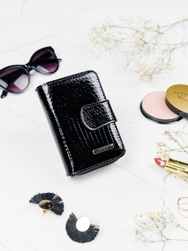 Women's Leather Wallet Black 2088