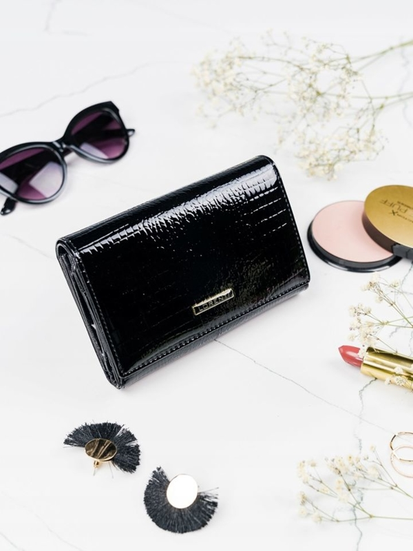 Women's Leather Wallet Black 2092